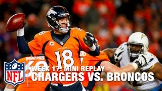 Chargers vs. Broncos | Philip Rivers vs. Peyton Manning | NFL Mini Replay
