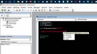 Excel VBA 2016 Derligne. Retrouver la derniere ligne non vide d'une base de données