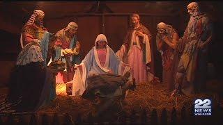 Baby Jesus at Greenfield manger display damaged