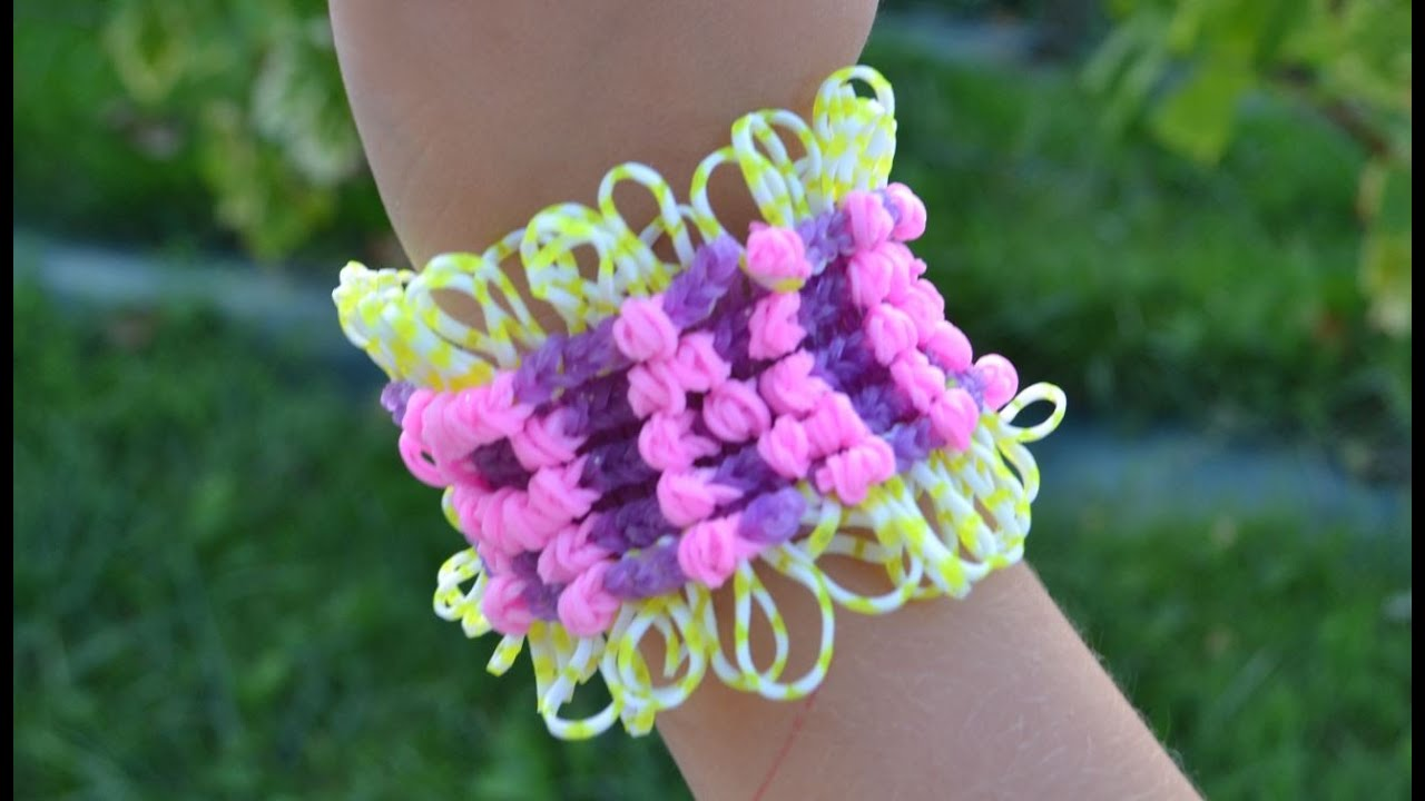bracelet lastique avec pr nom rainbow loom tutoriel en fran ais youtube. Black Bedroom Furniture Sets. Home Design Ideas