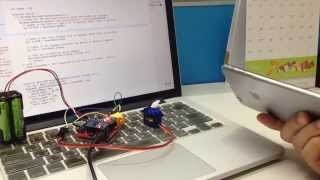 Webduino - 手機陀螺儀控制伺服馬達轉動