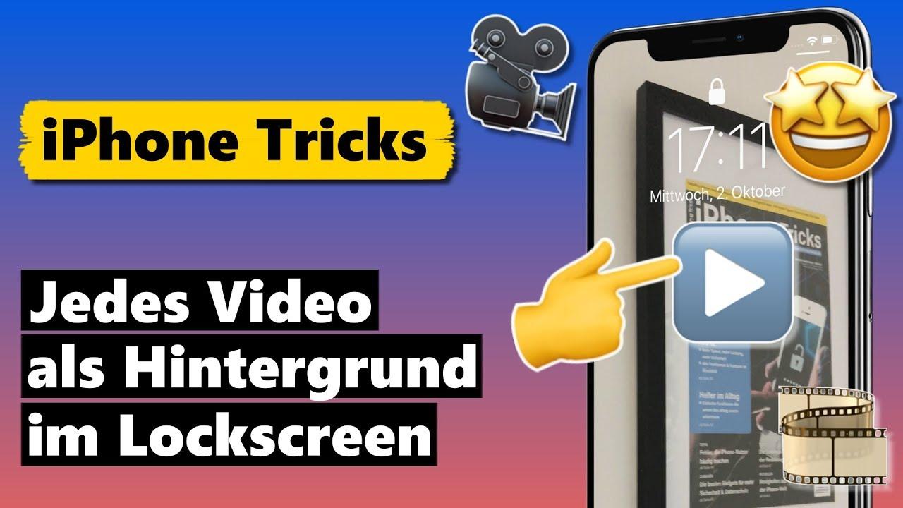 Video Als Hintergrund Im Iphone Sperrbildschirm