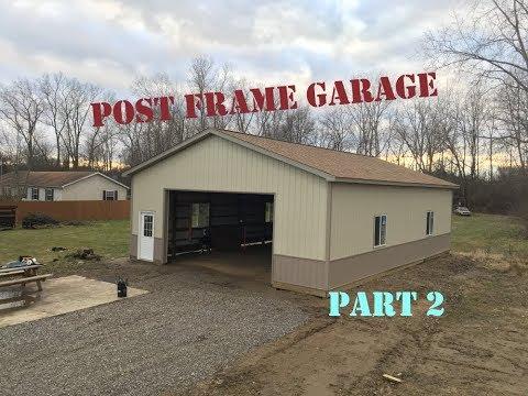 Pole Barn Garage / Shop - 32'x48'x12' - Part 2
