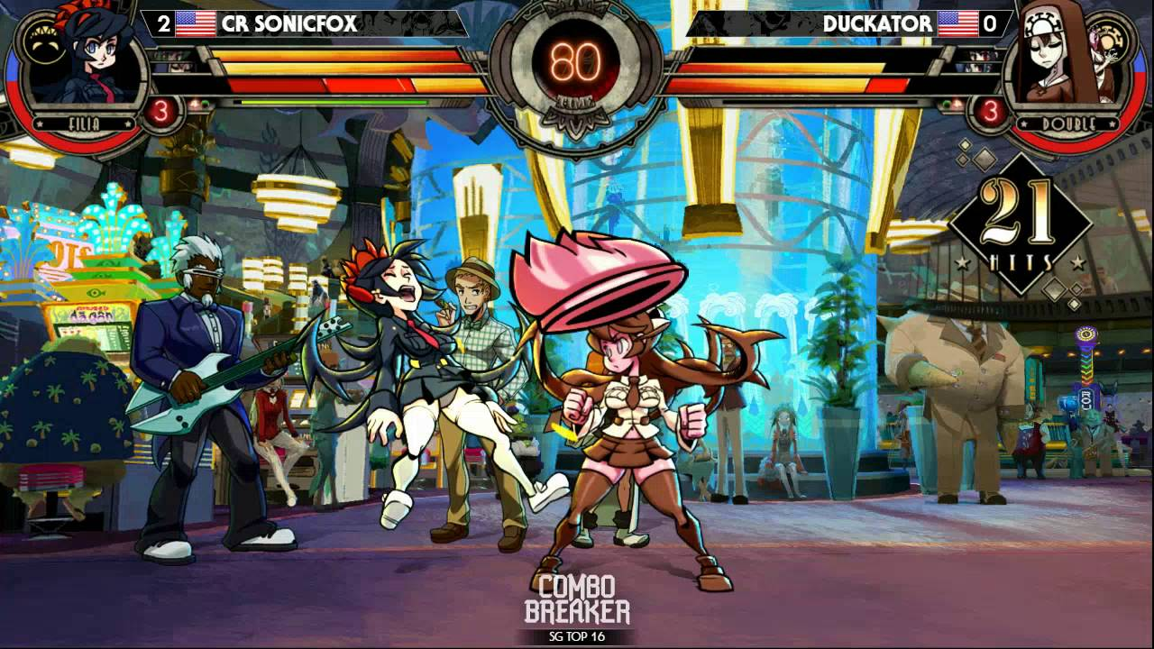 Skullgirls 2nd Encore Top 16 Tournament - Combo Breaker 2016 - Day ...