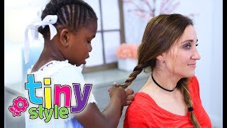 3 EASY MOMMY HAIRSTYLES by Paisley (age 6) | THIS IS SO FUNNY | Tiny Styles