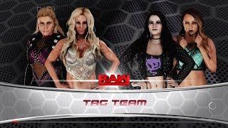 WWE 2K18 - Charlotte and Natalya VS Paige and Emma