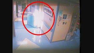 Impresionante Angel aparece en hospital (CCTV)