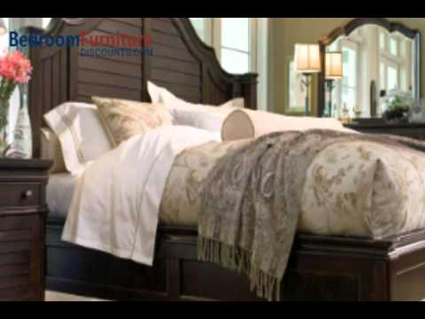 Paula Deen Home Steel Magnolia Platform Bed Set in Tobacco - YouTube
