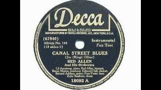 Henry Red Allen 1940 Zutty Singleton + Edmond Hall + Lil Armstrong - Canal Street Blues
