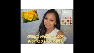SPRING MAKEUP LOOK INSPIRED BY FLOWER, YELLOW FREESIA.. #04