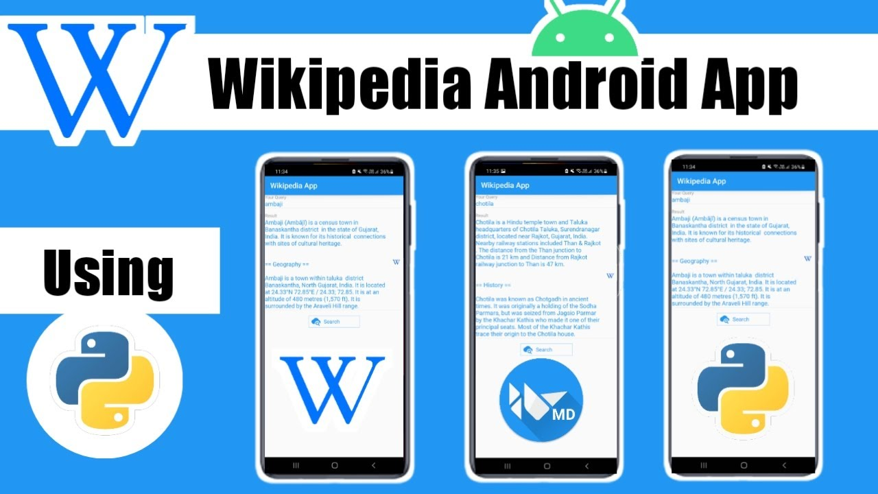 Wikipedia Android App using Python | Convert .Py to APK