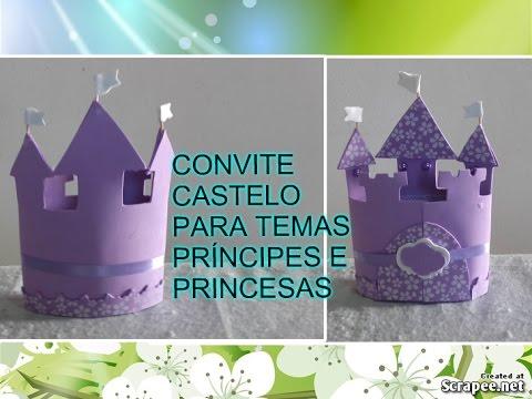 Como Fazer Convite Castelo Em Eva Princesa Sofia Youtube