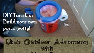 DIY Tuesday: Build your own Porta Potty in 3 minutes for under five bucks!