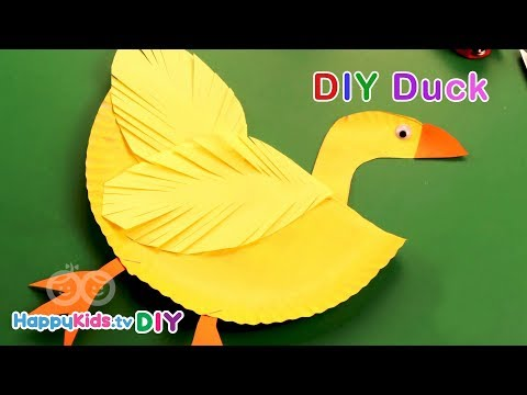 DIY Duck | Paper Crafts | Recycled Art | Kid's Crafts and Activities | Happykids DIY
