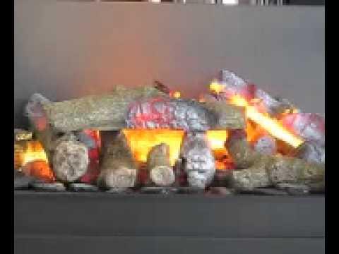 Fuego el ctrico con gran parecido al real youtube for Fuego falso para chimenea