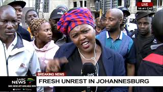 Fresh unrest in Johannesburg | Mahlako Komane reports
