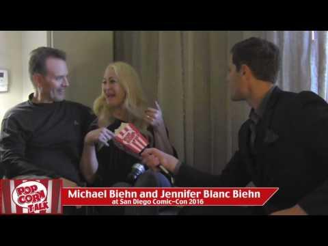 Michael Biehn and Jennifer Blanc Biehn at San Diego ComicCon 2016