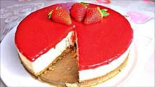 Enfes Sosuyla çilekli cheesecake tarifi - çatlamayan çökmeyen cheesecake nasıl yapılır