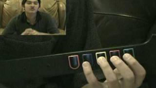 Tutorial One Handed Red Snake So Far Away 3 Through the Fire and Flames Guitar Hero 3