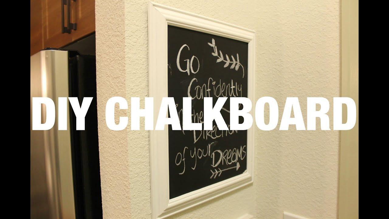 DIY Home Decor: Framed Chalkboard - YouTube