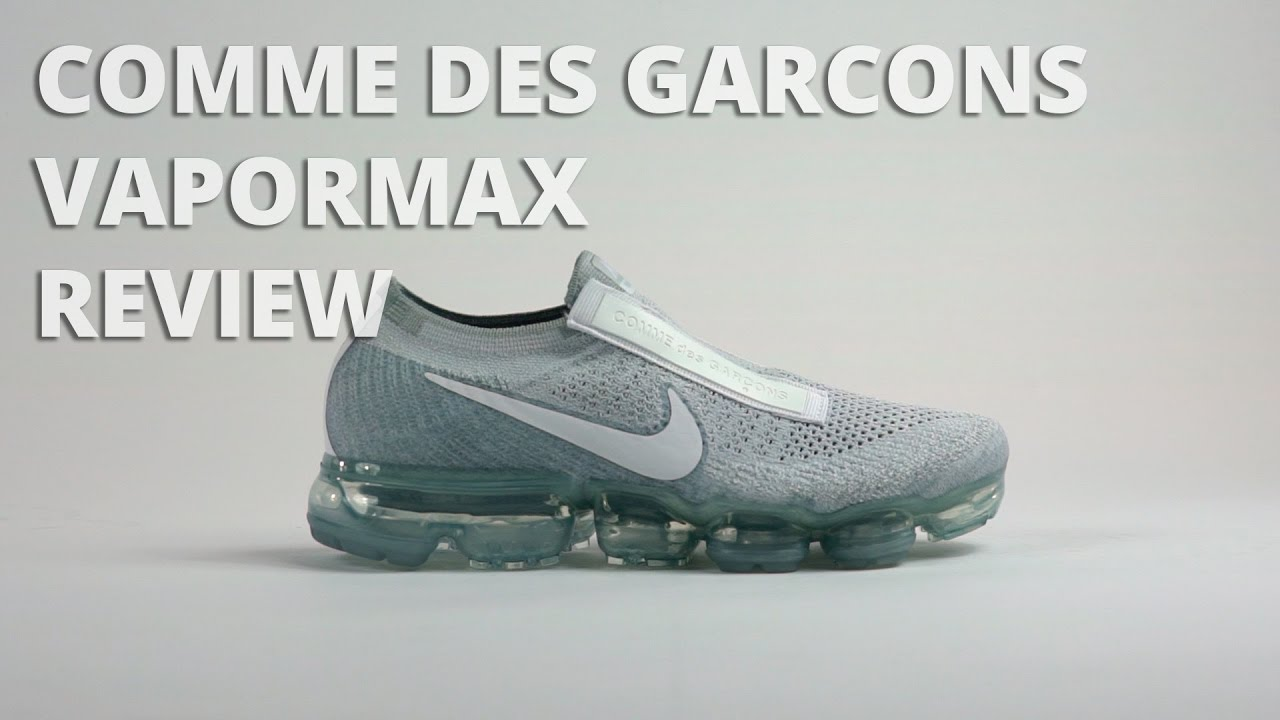 448dc12580f56 Comme Des Garcons x Nike Vapormax Unboxing / Review - YouTube