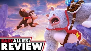 Mario + Rabbids Kingdom Battle Donkey Kong Adventure - Easy Allies Review (Video Game Video Review)