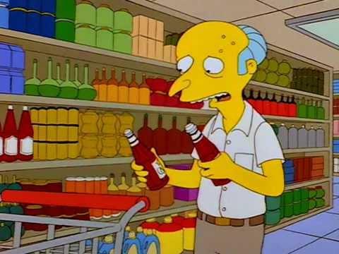 Mr. Burns Ketchup Catsup Problem
