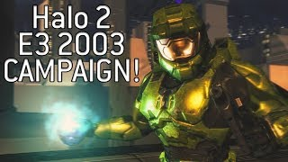 *NEW* GAMEPLAY OF THE MYTHICAL HALO 2 CAMPAIGN E3 2003 DEMO!