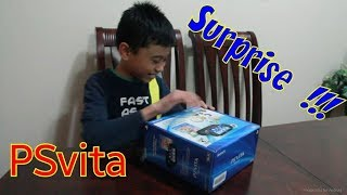 surprise PSVita for my son..unboxing too