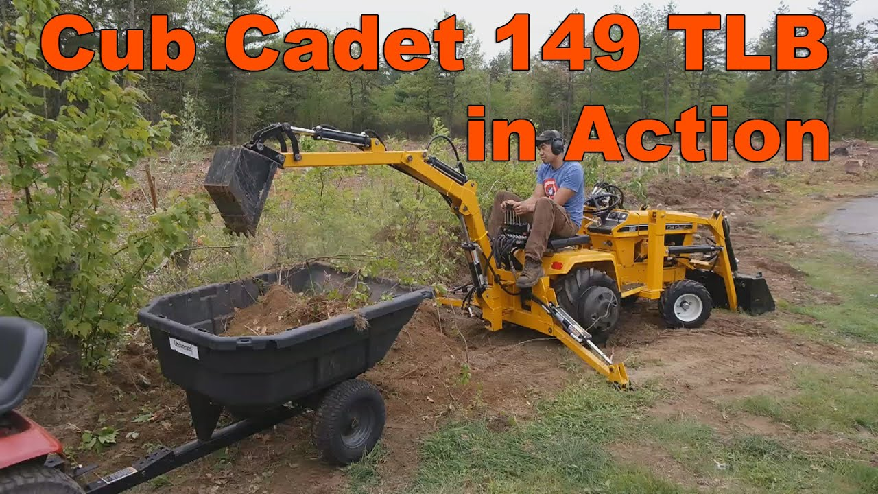 Cub Cadet 149 Garden Tractor Loader Backhoe at Work