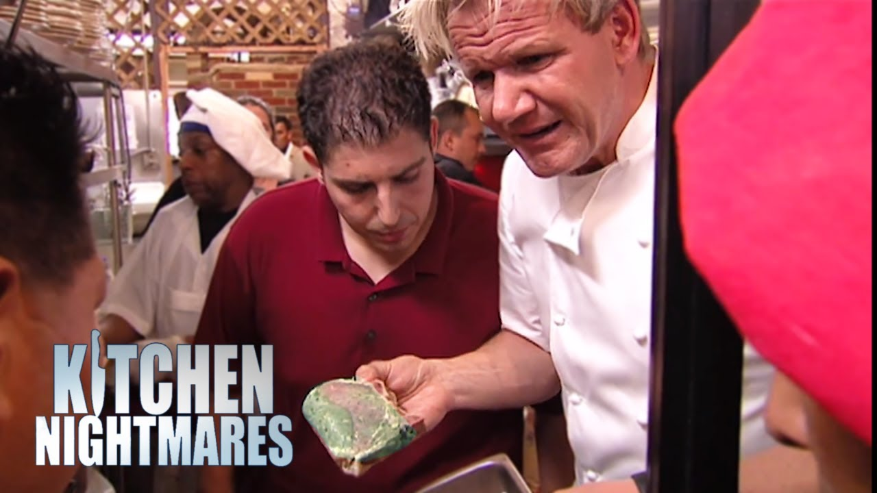 Restaurant Kitchen Nightmares gordon shuts down restaurant after finding old pork - kitchen