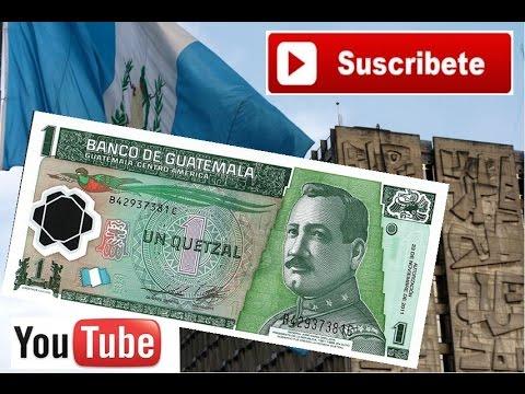 Un quetzal de Guatemala.Billetes fuera de Circulación.
