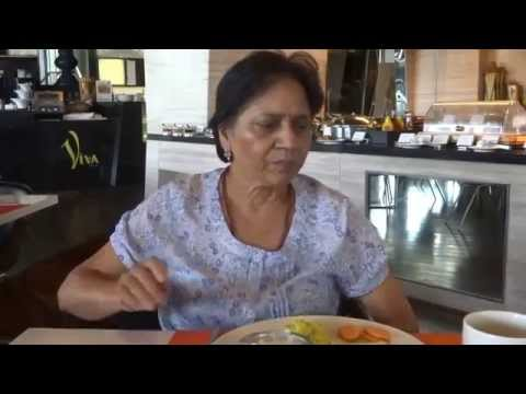 Aruna & Hari Sharma at Breakfast Table Holiday Inn Aerocity Delhi, India Jun 01, 2015