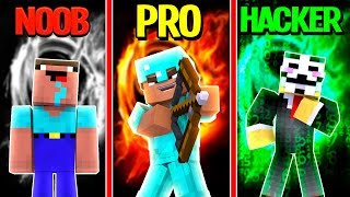 Minecraft - NOOB vs PRO vs HACKER - HUNGER GAMES in Minecraft / Animation!