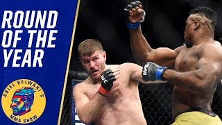 Stipe Miocic vs. Francis Ngannou wins round of the year | Ariel Helwani's MMA Show
