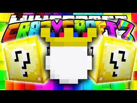 Minecraft Crazy Craft 3.0: LUCKY BLOCK KING SPAWNER? #25