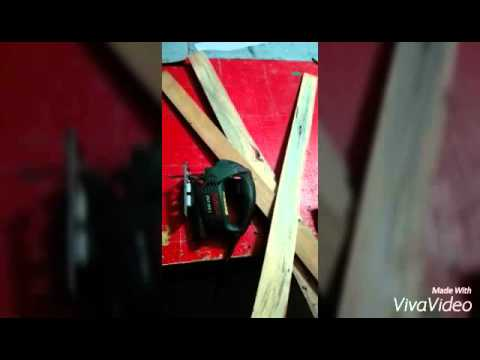 Handmade floor lamp. - YouTube