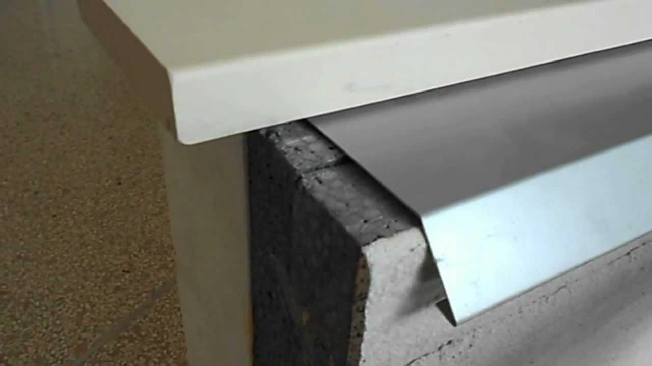 Scossaline in alluminio per balconi