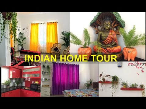 Indian Home Tour/Plants Tour/How to decorate home with plants
