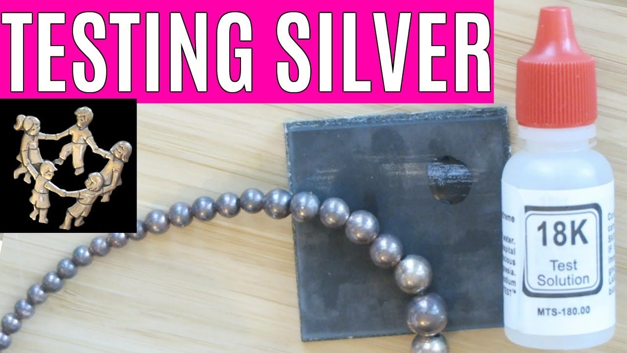 how to test sterling silver with acid