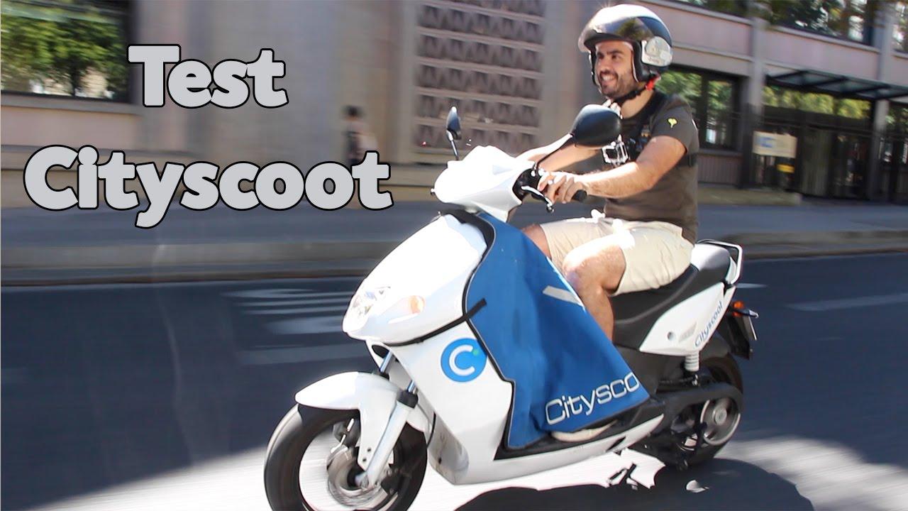 test de cityscoot le scooter lectrique en libre service youtube. Black Bedroom Furniture Sets. Home Design Ideas