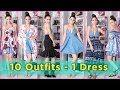 10 Outfits with 1 DRESS! 10 Outfit Ideas with 1 Dress | Fall & Summer Fashion