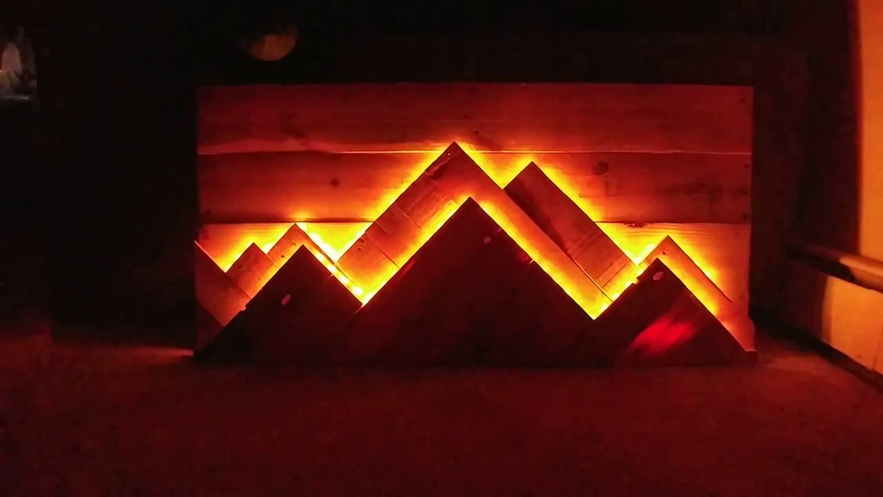 Mountain Pallet Art Youtube