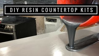Countertop Resurfacing Kits with Metallic Epoxy in Silver, Pearl White and Black thumbnail