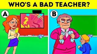 🏫SCHOOL RIDDLES WITH ANSWERS! LOGIC PUZZLES AND CRIME TEASERS💡