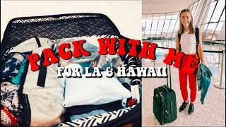PACK WITH ME FOR LA & HAWAII (TIPS & HACKS) | Lauren Evelyn