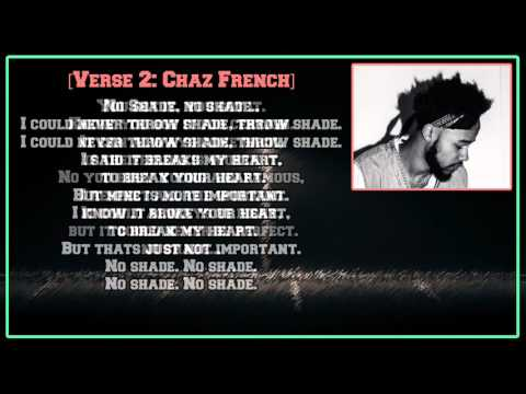 Chaz French - No Shade (feat. Wale) [Lyric Video]