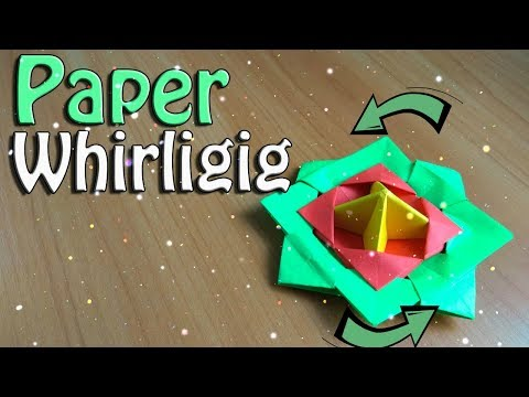 How to make Paper spinner for kids. Whirligig from paper. Amazing crafts Toy. Relax game