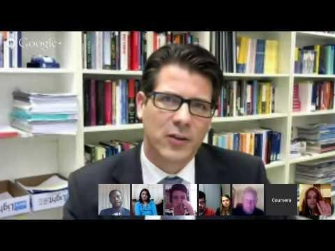Coursera MOOC Terrorism & Counterterrorism Google Hangout Jan 2014