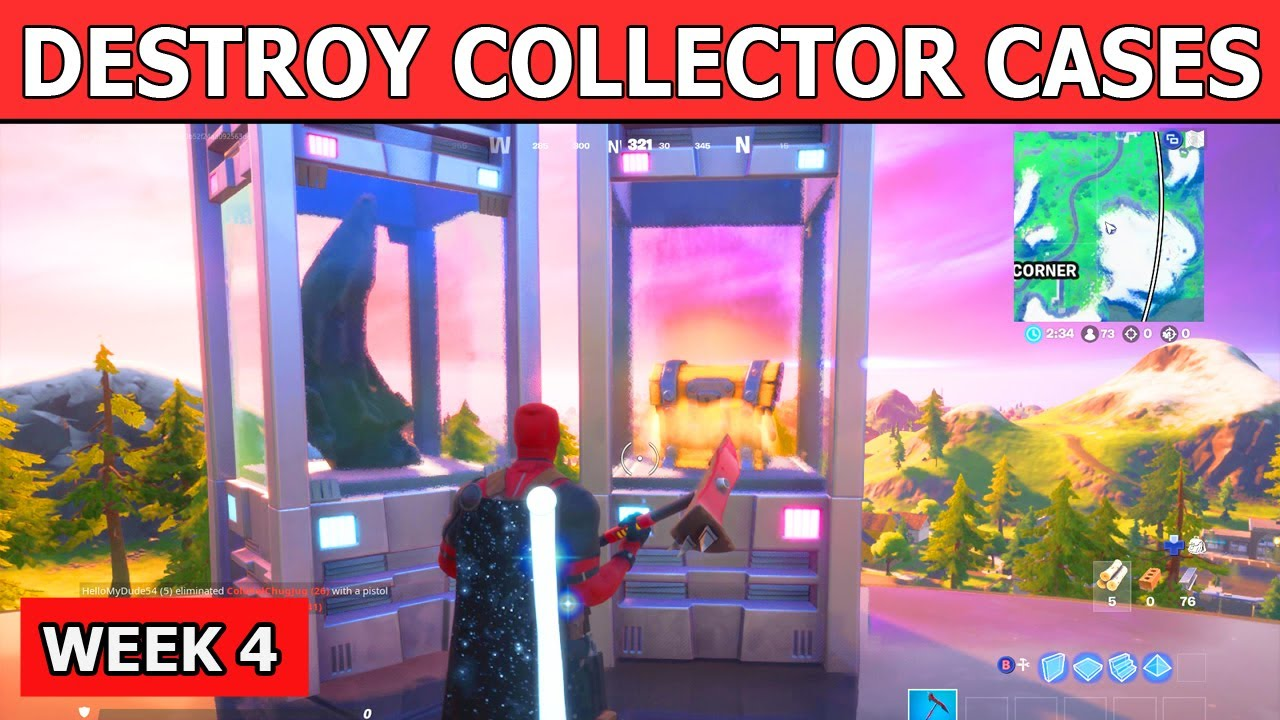 Destroy Collector Cases at The Collection! Location Guide! Fortnite Challenges Week 4!